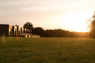 Sonnenuntergang beim Panorama-Hotel Aschberg